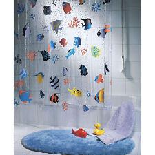 QUALITY Spirella Transparent Fish Clear Plastic Shower Curtain 180 x 200 cm