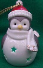Lenox Color Changing Lit Porcelain Penguin Christmas Tree Ornament Nib B7