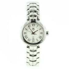 BRAND NEW TAG HEUER LADIES WAT1416 LINK CREAM DIAL BOX/PAPERS QUARTZ STAINLESS