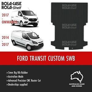 Ford Transit Custom SWB Genuine Big Rib Rubber Cargo Van Flooring 5mm CNC Cut