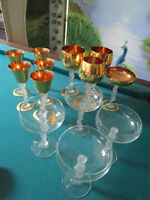 BAYEL FRANCE FROSTED NUDE WOMAN GOBLETS - CORDIALS - CHAMPAGNE - PICK ONE SET