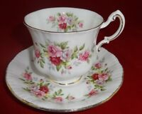 Paragon Bone China Cup and Saucer English Flowers Series Roses Gold Trim