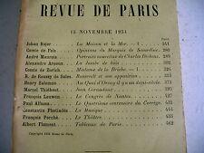 LA REVUE DE PARIS n° 22 - 1934 revue littéraire leuwen thiébaut maurois etc