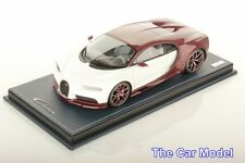 In stock Bugatti Chiron Red Carbon / Glacier, Limited 149 pcs MR 1/18