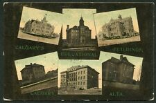 CALGARY ALBERTA EDUCATIONAL BUILDINGS MULTI VIEW 1910 Postcard