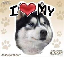 "I Love My Alaskan Husky Dog 4"" Car Home Vinyl Sticker Decal Siberian Malamute"