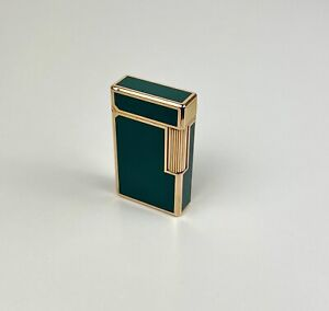Accendino S T Dupont lacca cinese oro lighter Chinese lacquer line gold plated