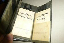 Texas Instruments TI 58/59 module 1 & 4 master/surveying/strips/untested