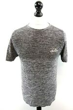 ELLESSE Mens T-Shirt Top S Small Grey Black Polyester