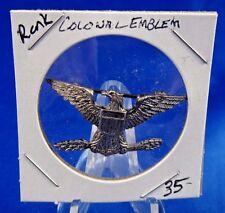 Vintage Colonal Emblem Rank Military Pin Pinback Button