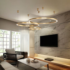 Aluminum LED Pendant Lights Circle Ring Suspension Lamp For Dining Room Study