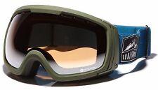 VZ Von Zipper Feenom NLS Olive Snow / Ski Goggles, RRP $199.99. NIB.