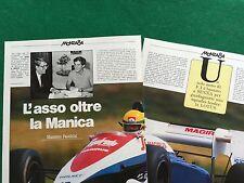 BB109 Clipping Ritaglio (1984) 28x22 cm 3 pag - AYRTON SENNA LOTUS