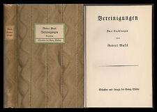 Robert Musil: Vereinigungen. Erstausgabe 1911