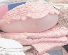 Linens N Things Frilly Ruffles Pink Heart Cushion Toss Sofa Girls Bed Pillow New