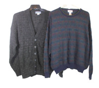 Lot of 2 Mens XXL Long Sleeve Sweater Cardigan Knitted Alfani Munsingwear