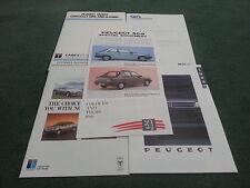 1989 PEUGEOT Carrs De Castleford flotte/Leasing 6 partie brochure 205 309 405 505