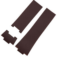 26mm Brown Rubber Watch Strap Band Compatible with ULYSSE NARDIN 353-68LE-3