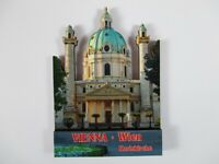 Wien Karlskirche Holz Souvenir Magnet,Österreich Austria,Neu
