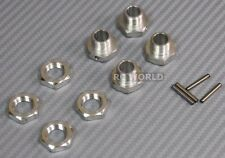 RC 1/8 Scale Parts  METAL 17MM WHEEL HUB AND LOCK NUT 1/8 Buggy Truggy