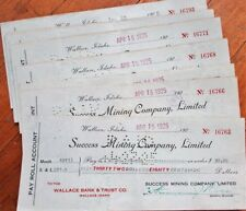 'Success Mining Company, Ltd.' 1920s Checks - 1000+ PIECES