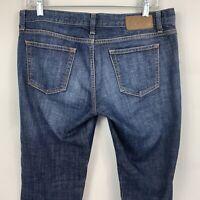 Gap 1969 Dark Wash Denim Blue Jeans Women's size 30x32 Skinny Fit Meas. 32x32
