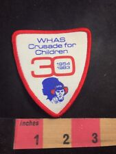 LG Vtg WHAS TV Channel 11 ABC Louisville KY Cloth Patch New NOS 1970s Television