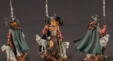 Tin toy soldiers  painted 54 mm viking with wolves