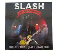 SLASH Official 2014 Calendar New Official Merch Guns N Roses Tour NOS