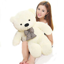 24in.Giant Stuffed White Huge Tie Teddy Bear Plush soft Toys Animals Doll Gift