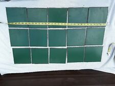 15 Vintage Ceramic Wall Tiles Retro Vintage Collectibles dark Green Collectibles
