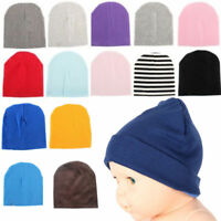 New Baby Unisex Toddler Infant Boys Girls Beanie Hat Soft Cute Cap Cotton @