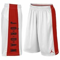 Men's Nike Jordan Go 23 Flight Basketball Shorts WHITE RED SIZE LARGE 838978 100