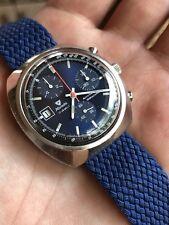Vintage Nivada Automático Reloj Cronógrafo Hombre Tenor Dorly 1369 Suizo 37,5mm
