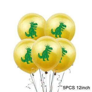 15 Inch 5P Dinosaur Printed Latex Balloon Confetti Kids Birthday Party Decor