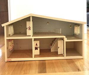 Vintage Lundby Sweden Gothenburg Mid 1970's 3 Split Level Doll House  Rare 70s