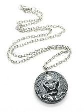 Hématite Lion Cadran Pendentif Signe Du Zodiaque Rasta de Judah Collier en Boîte