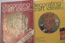 Lot of 2 Decorating & Craft Ideas magazines, 1972