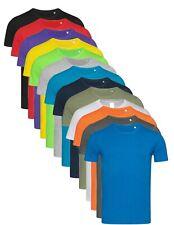 Hanes or Stedman Mens Plain Slim Fitted Fit-T Cotton Tshirt Tee T-Shirt