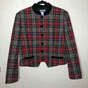 Vintage Wool Pendleton Preppy Jacket Gossip Girl Size 16 Petite