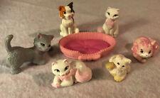 Littlest Pet Shop Kitten Bed And Lot Of Cute PVC Cats Kittens Kittys