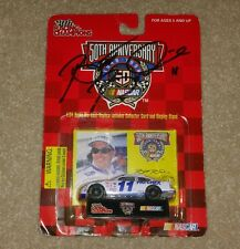 Brett Bodine autographed NASCAR 50th die cast replica car collector card NEW