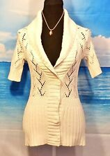 EDDIE BAUER Womans IVORY All Season TUNIC Sweater Top ALL SEASON Lightweight XS