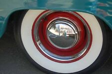 """2"""" WIDE WHITE WALL TIRE TRIMS PORT A WALL SET 15"""" WHEEL TIRE HOT ROD BABY MOON"""