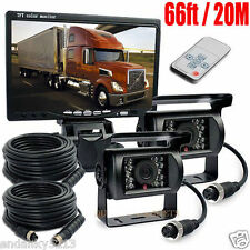 """2x4Pin Safety Reversing System with 7"""" TFT Color Monitor IR Camera Night Vision"""