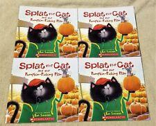 Lot 4 SPLAT THE CAT & THE PUMPKIN-PICKING PLAN Books ROB SCOTTON Scholastic NEW
