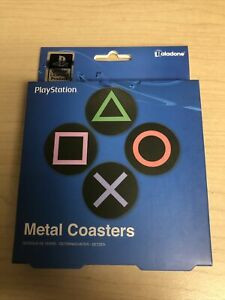Playstation Metal Drink Coasters from Geek Fuel box - NEW