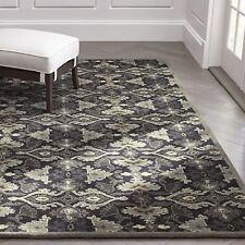 Crate & Barrel Delphine Black 9' x 12' Handmade 100% Wool Area Rugs & Carpet