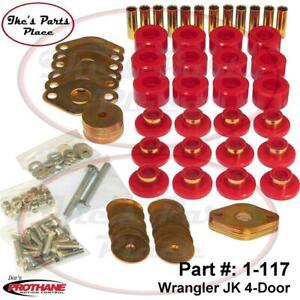 Prothane 1-117 Body Mount Bushing Kit-12pc/Hardware 07-14 Jeep Wrangler JK 4dr