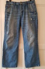 """TOMMY HILFIGER """"LAURENCE VINTAGE WORN"""" BLUE JEANS - W34 inches - L32 inches"""